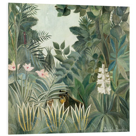 Print på skumplade  The Equatorial Jungle - Henri Rousseau