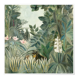 Premium-plakat  The Equatorial Jungle - Henri Rousseau