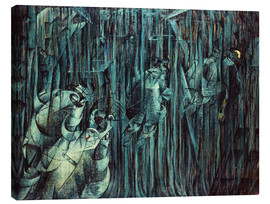 Lærredsbillede  Those Who Stay - Umberto Boccioni