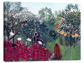 Lærredsbillede  Tropical Forest with Monkeys - Henri Rousseau