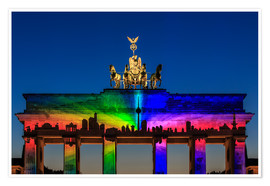 Premium-plakat  Berlin skyline at the Brandenburg Gate - Frank Herrmann