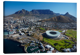 Lærredsbillede  Cape Town Stadium and Table Mountain - David Wall