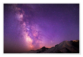 Premium-plakat  Milky way at the violet sky - Gary Luhm