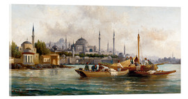 Akrylbillede  Merchant vessels in front of Hagia Sophia, Istanbul - Anton Schoth