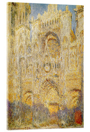 Akrylbillede  Rouen Cathedral, at noon - Claude Monet