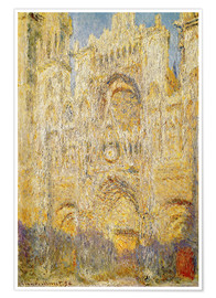 Premium-plakat  Rouen Cathedral, at noon - Claude Monet