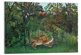 Akrylbillede  The hungry lion - Henri Rousseau