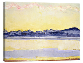 Lærredsbillede  Mont Blanc with red clouds - Ferdinand Hodler