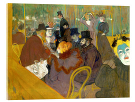 Akrylbillede  At the cabaret - Henri de Toulouse-Lautrec