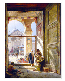 Premium-plakat  The Gate of the Great Umayyad Mosque, Damascus - Gustave Bauernfeind