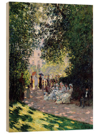 Print på træ  The Parc Monceau - Claude Monet