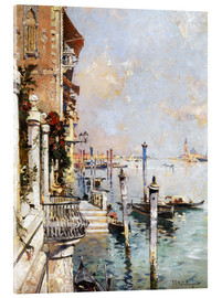 Akrylbillede  The Grand Canal, Venice - Franz Richard Unterberger
