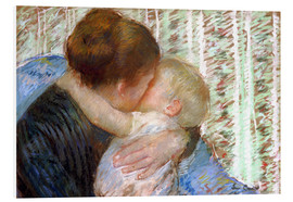 Print på skumplade  The Goodnight Kiss - Mary Stevenson Cassatt