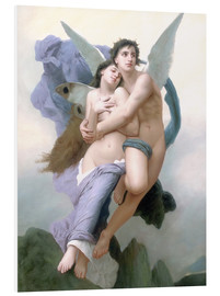 Print på skumplade  The Abduction of Psyche - William Adolphe Bouguereau