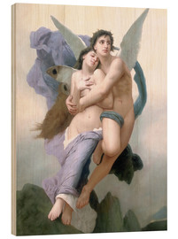 Print på træ  The Abduction of Psyche - William Adolphe Bouguereau