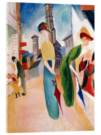 Akrylbillede  In front of hat shop - August Macke