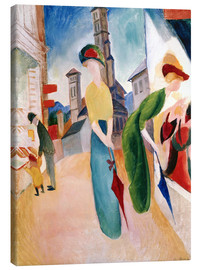 Lærredsbillede  In front of hat shop - August Macke