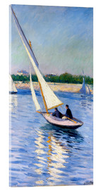 Akrylbillede  Sailboat on the Seine at Argenteuil - Gustave Caillebotte