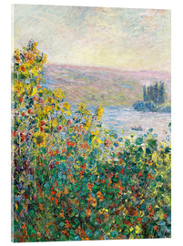Akrylbillede  Flower Beds at Vetheuil - Claude Monet