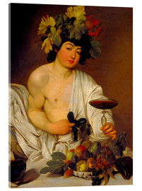 Akrylbillede  The Young Bacchus - Michelangelo Merisi (Caravaggio)