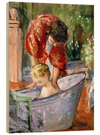 Print på træ  The Bath (Le Bain) - Henri Lebasque