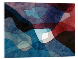 Akrylbillede  Mountain and Synthetic Air - Paul Klee