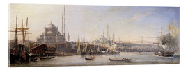 Akrylbillede  The Golden Horn, Suleymaniye Mosque and Fatih Mosque - Antoine Léon Morel-Fatio
