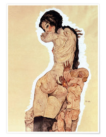 Premium-plakat Woman with Homunculus