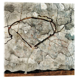 Akrylbillede  Autumn Tree in Stirred Air (Winter Tree) - Egon Schiele