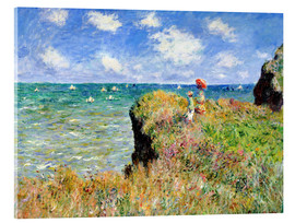 Akrylbillede  The Cliff Walk at Pourville - Claude Monet