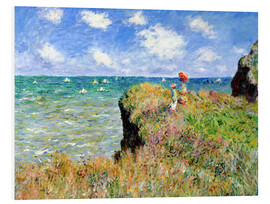 Print på skumplade  The Cliff Walk at Pourville - Claude Monet
