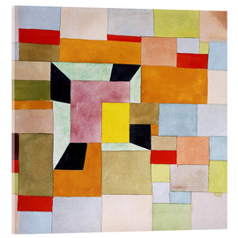 Akrylbillede  Split Coloured Rectangles - Paul Klee