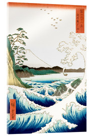 Akrylbillede  The Sea off Satta in Suruga Province - Utagawa Hiroshige