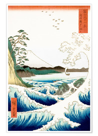 Premium-plakat  The Sea off Satta in Suruga Province - Utagawa Hiroshige