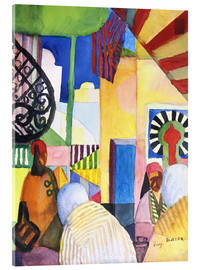 Akrylbillede  In the Bazaar - August Macke