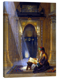 Lærredsbillede  In the Mosque - Carl Friedrich Heinrich Werner