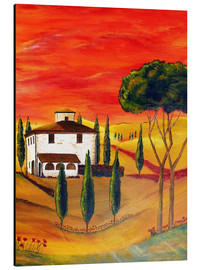 Print på aluminium  Warmth of Tuscany - Christine Huwer