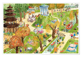Premium-plakat Munich: English Garden