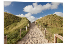 Print på skumplade  Sylt, path through dunes - Markus Lange
