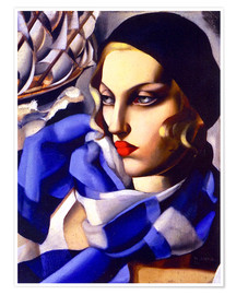 Premium-plakat The blue scarf
