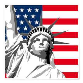 Premium-plakat statue of liberty