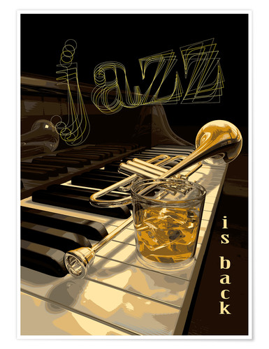 Premium-plakat Jazz is back
