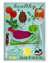 Premium-plakat Healthy by nature I