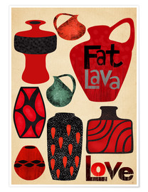 Premium-plakat Fat Lava Love