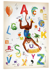Akrylbillede  ABC Alphabet animals, colours and more - Heike Udes