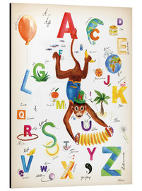 Print på aluminium  ABC Alphabet animals, colours and more - Heike Udes