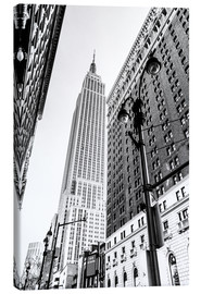 Lærredsbillede  New York City - Empire State Building (monochrome) - Sascha Kilmer