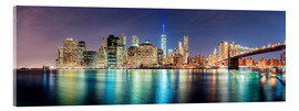 Akrylbillede  New York City Skyline, panoramic view - Sascha Kilmer