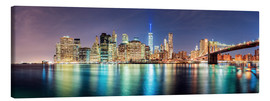 Lærredsbillede  New York City Skyline, panoramic view - Sascha Kilmer