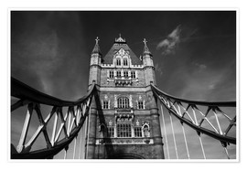 Premium-plakat London Tower Bridge monochrome